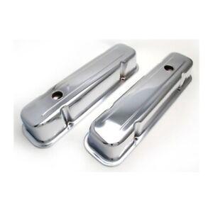 Transdapt 9300 Traditional Design Valve Covers For 59-79 Pontiac 326-455 NEW