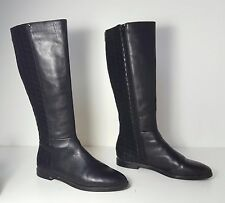 $179 size 8 Calvin Klein Donnily Black leather Knee High Riding Women Boots