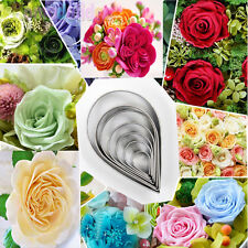10Pcs Rose Flower Petal Biscuit Cookie Cutter Cake Decor Pastry Baking Mould