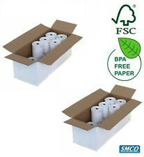 40 Till Rolls for Casio Te-100 Te100 57 X 57mm Thermal Receipt Paper BPA