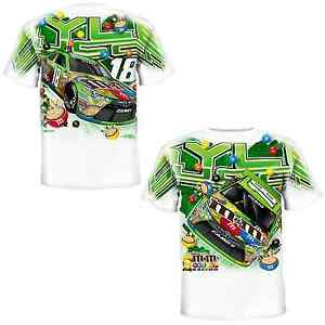 Kyle Busch 2015 Chase Authentics #18 Crispy M&M's Total Print Tee FREE SHIP!