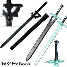 Sword Art Online Kirito STEEL Swords Set Elucidator Dark Repulsor SAO Replicas 2