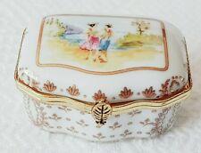 Trinket Box ~ Fine Porcelain ~ Del Prado ~ ep27 (Nyon Swiss Bern 19thC Style)
