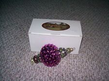 MACKENZIE-CHILDS CHRISTMAS PURPLE RUSSIAN JEWEL ORNAMENT POLAND HAND PAINTED