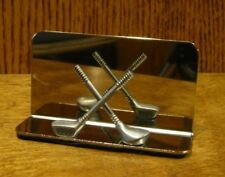 "Pewter BUSINESS CARD HOLDER #GIN114 NEW From Retail Store GOLF, 2"" x 3.75"""