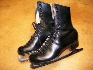 Vintage RIEDELL Mens Size 6.5 Ice Skates 220N SHEFFIELD Blades 6 1/2 Red Wing MN