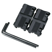 "1 Pair Black Picatinny 11mm Dovetail To 7/8"" 20mm Weaver Rail Adapter Mount"