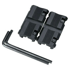 """1 Pair Black Picatinny 11mm Dovetail To 7/8"""" 20mm Weaver Rail Adapter Mount"""