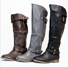 Unbranded Women's Knee High Low Heel (0.5-1.5 in.) Boots