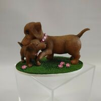 The Hamilton Collection Darling Dachshund You Give the Best Snuggles Figurine