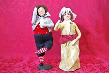 """MR & MRS FEZZIWIG """"A Christmas Carol"""" Byers' Choice Second Edition 1986 Figures"""