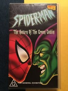 Spider-Man Green Goblin Marvel comics Retro Collectable VHS Movie Tape 2002 G