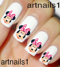 Minnie Disney Pink Bow Nail Art Water Slide Decal Stickers Manicure Salon Polish