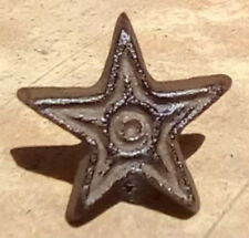 Rustic Cast Iron Cabinet Knobs Drawer Pull Stars Primitive Brown Texas star 2