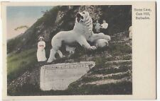 Barbados; Stone Lion, Gun Hill PPC, Unposted, By Roberts & Co, c 1920's