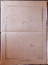 Carte marine nautical map Océan indien Iles chagos  XIXème siècle