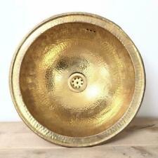 Basin Moroccan Brass Hammered Sink for bathroom Handmade Round sink