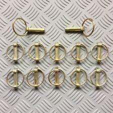 8 Mm x 35 mm con anillo abatible Pasadores Lynch Pins pieza clave del remolque de tractor máquina x12