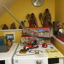 SCHUCO NOS TIN REPLICA ELEKTRO CONSTRUCTION FIRE TRUCK W/TRAILER & ORIGINAL BOX!