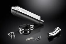 """Delkevic 13"""" Stainless Tri-Oval Muffler - Ducati Hyperstrada 821 - 13-15 Exhaust"""