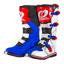 Oneal Rider EU MX Boots MX Off Road Dirt Bike ATV Racing Boot Blue Red White