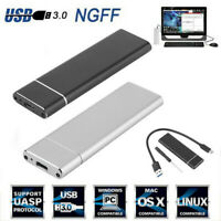 M.2 NGFF SSD Hard Disk Drive Case USB Type-C USB 3.0 NVME PCIE HDD Enclosure*YT