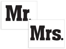 """2 Schuhsticker """"Mr. / Mrs."""" Aufkleber, Hochzeit, Brautschuhe, Brautpaar"""
