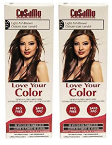 CoSaMo Hair Color #775 Light Ash Brown, Compares to Clairol Loving Care (2 Pack)