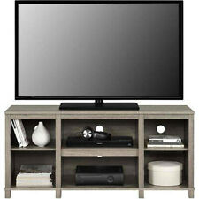 Entertainment Cubby TV Stand, up to 50 inch TV, Light Oak Wood Finish Furniture