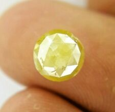 Real Natural Diamond 1.78TCW 7.4 MM Yellow Sparkling Round Rose cut for Gift