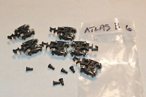 N scale PARTS Atlas freight car trucks metal wheels w/ pins BETTENDORF (6)