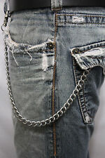 New Men Silver Metal Wallet Chains Thick Link KeyChain Jeans Classic Biker Basic