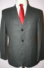 Burberry London Gray Wool Three Button Side Vented Suit 39 S 34 28 Flat Pants