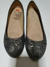 Wanted Giselle  Memory Foam Dressy Ballet Flats Size 10 Silver Gray