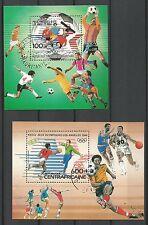 Jeux Olympiques Football  Los Angeles 1984  2 blocs oblitérés /T265
