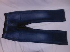 MISS SIXTY WOMEN'S STRAIGHT LEG JEANS w/ LEATHER ACCENTS, Size 27
