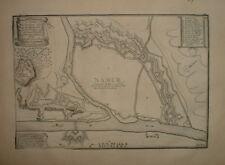 078 Nicolas De Fer MAP 1705 NAMUR Wallonie Belgique Sambre Meuse