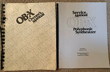 Oberheim OB-X Vintage Synthesizer Owner's (original) & Service (copy) manual set