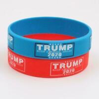 Armreif Donald Trump 2020 KEEP AMERICA GREAT Silikon Armband Armband Armban Z9Z0