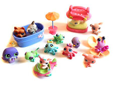 La figure Littlest Pet Shop & accesory set lot, poisson bol & bain etc