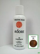 CREATIVE IMAGE ADORE SEMI PERMANENT HAIR COLOR #58 CINNAMON 4oz