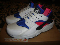 2013 NIKE AIR HUARACHE RETRO LE OG UK 12 11 10 9 8 7 6 WHITE ROYAL BLUE PINK QS