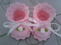 Crochet baby shoes Newborn booties  Size 0-3 months Different colors Handmade