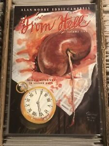 FROM HELL VOL. 5 ALAN MOORE EDDIE CAMPBELL 1994 mad love kitchen sink press
