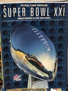 Official NFL Super Bowl XXI program! Denver Broncos vs New York Giants!