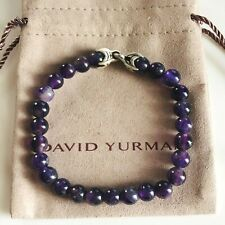 "David Yurman Spiritual Bead Men's Bracelet with Amethyst 8.5"" 8mm NEW"