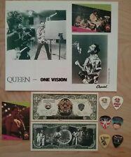 Queen-One Vision 8X10 Photo/6 Guitar Picks/Queen Million Dollar Bills/Rock Cards