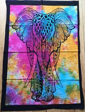 Elephant  Tie  Dye  Indian  Batik   Cotton  Wall  Hanging  !!     Brand New !!