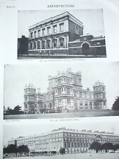 ANTIQUE PRINT DATED 1926 ARCHITECTURE HAMPTON COURT BANQUETING HOUSE WHITEHALL