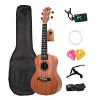 1X(Concert Ukulele Kits 23 Inch Rosewood 4 Strings Hawaiian Mini Guitar Wi C9G3